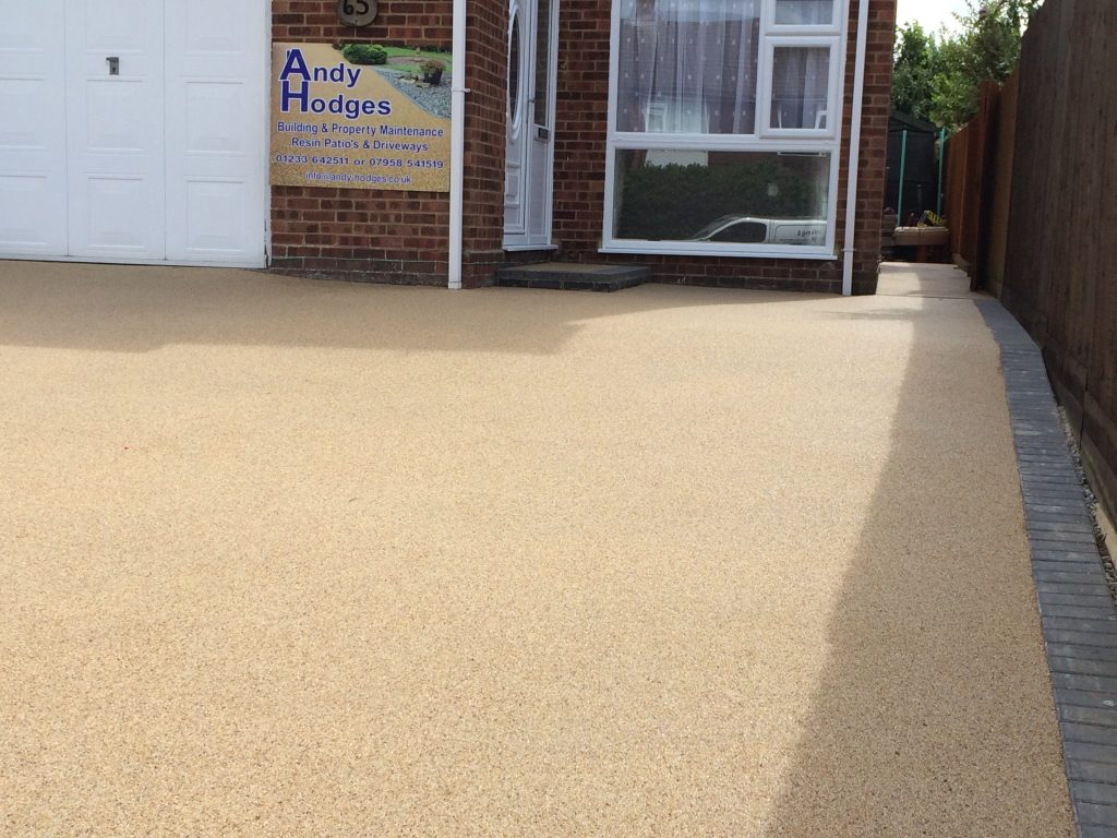 Completed resin coat drive over existing concrete