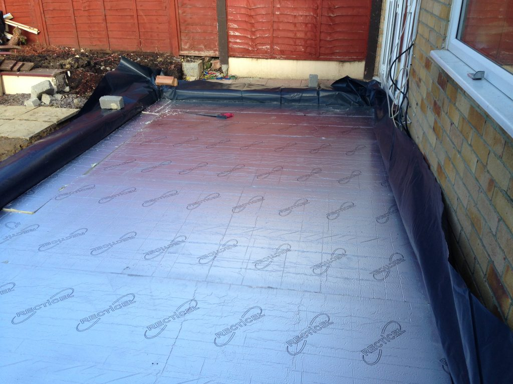 Flooring ready for concrete