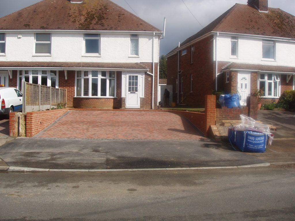 Finished block paving